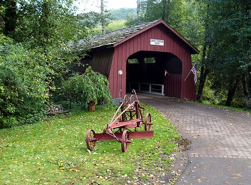 ~Drift Creek Covered Bridge~ considered to be the oldest covered bridge in the state of Oregon