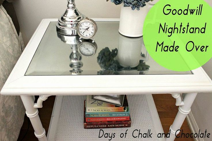 Hometalk :: Reinventing a Goodwill Table Into a Chic Nightstand