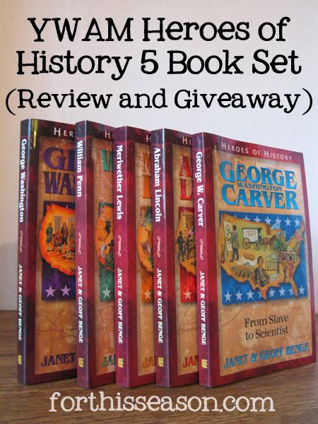 Heroes of History 5 Book Set (Review and Giveaway) from YWAM ends 6/1/13