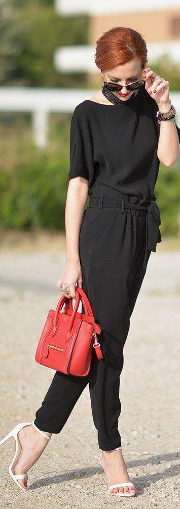 Max Mara Jumpsuit, Celine Mini Luggage Bag, Zara Heels