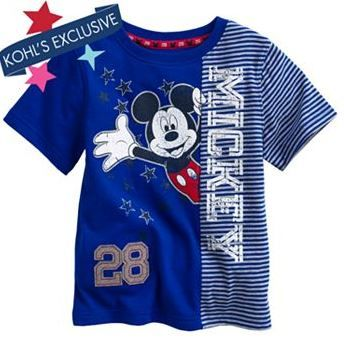 Disney Mickey Mouse Pieced Striped Tee by Jumping Beans® - Toddler http://www.kohls.com/