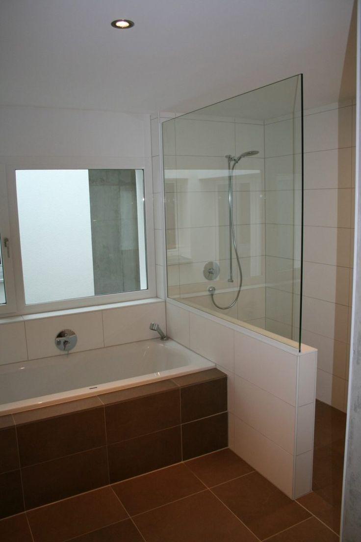 Bad mit gemauerter Dusche – #Bad #Dusche #gemauert…