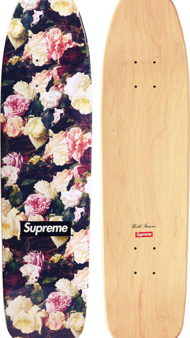 Floral print, Supreme skate deck.   Skate. Surf. Snow ...