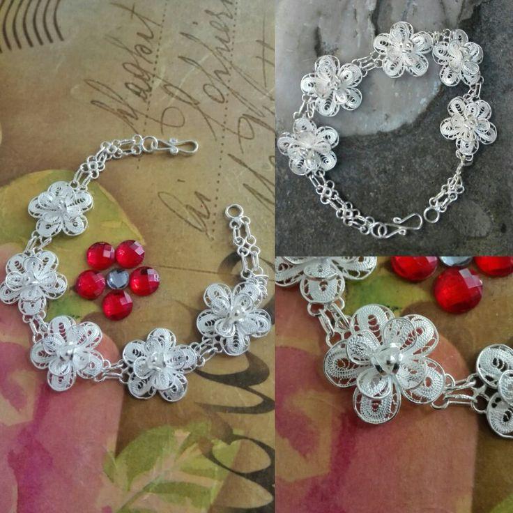 Bracelet....fine silver... filigree...handmade https://www.facebook.com/AGift-390048184451793/