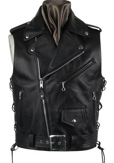Leather Biker Vest # 308 - 50 Colors [Leather Biker Vest # 308] - $100.00 : LeatherCult.com, Leather Jeans | Jackets | Suits