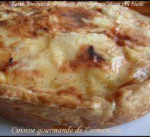 Recette - Tarte savoyarde feuilletée aux oignons et au vin blanc - Proposée par 750 grammes
