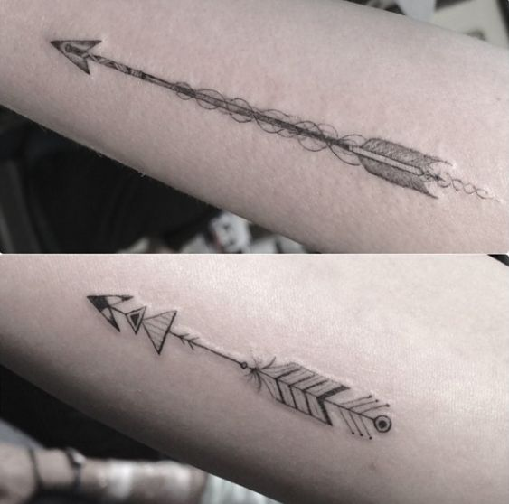 Arrow Design by Dr Woo. I will one day get a tattoo by this amazing artist!