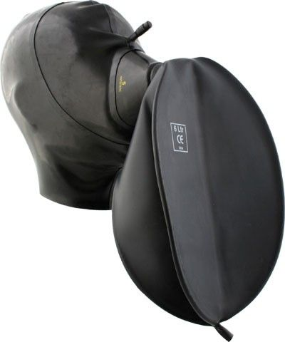 Rubber Hood With Medical Mask and Breathing Bag - Rubber Hoods