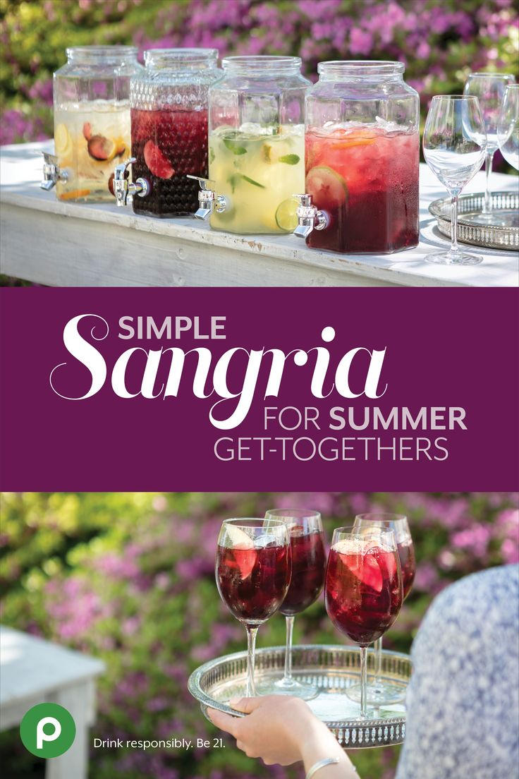 Make the most of Publix wine and fresh seasonal fruit with four make-it-in-a-snap sangria recipes.