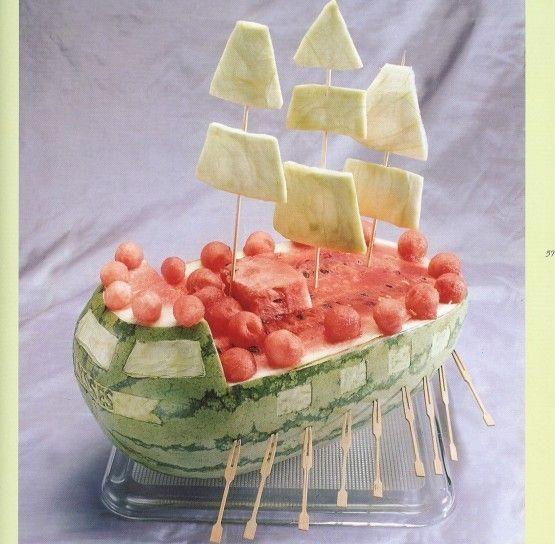 Decoraci n de frutas fotos de ideas originales platos - Primeros platos faciles y originales ...