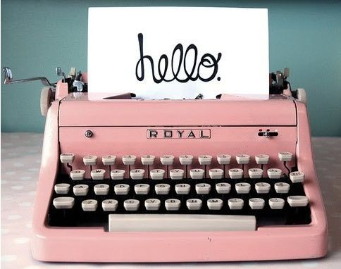 typewriters!! .....ding!  if only i had a pink one...  The Basket of Inspirations