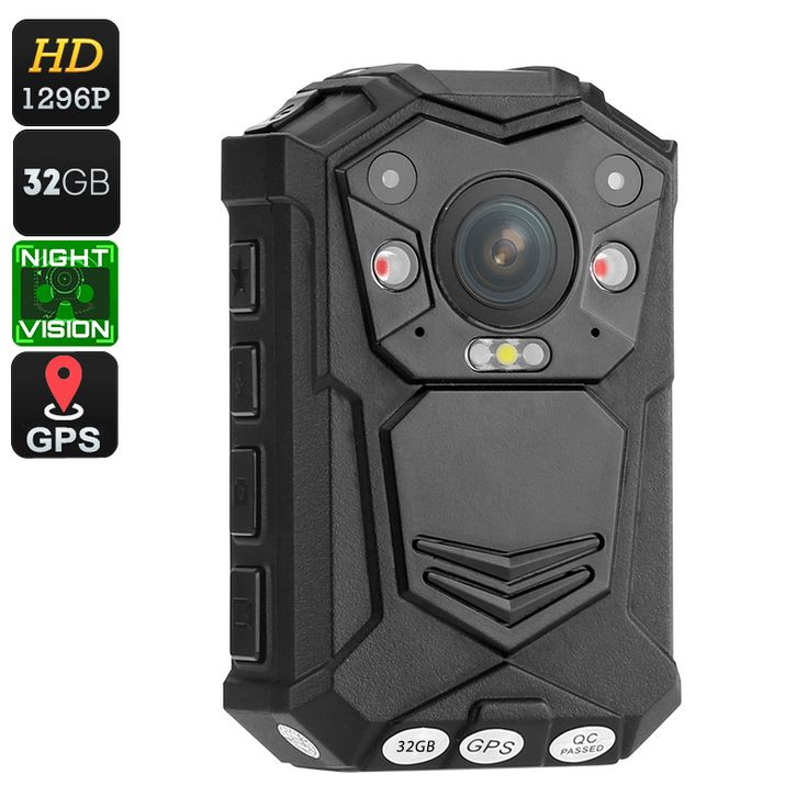 Police Body Worn Camera - 10M Night Vision, 1296p, 140 Degree Lens, CMOS Sensor, IP65 Waterproof, 2 Inch Display, Time Stamp - Body worn camera is a great security gadget that records everything in front of you at both day and night thanks to its 10m IR night vision.