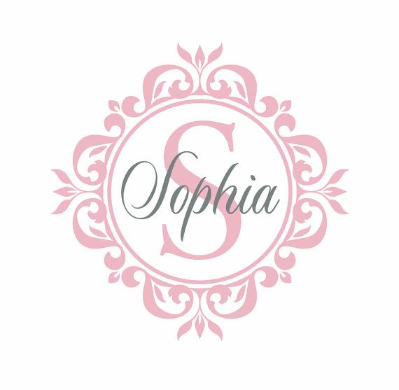Unique Monogram Wall Decals Ideas On Pinterest Personalized - Monogram vinyl wall decals for girls