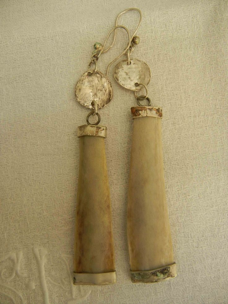 earrings - sterling silver/sheep bones