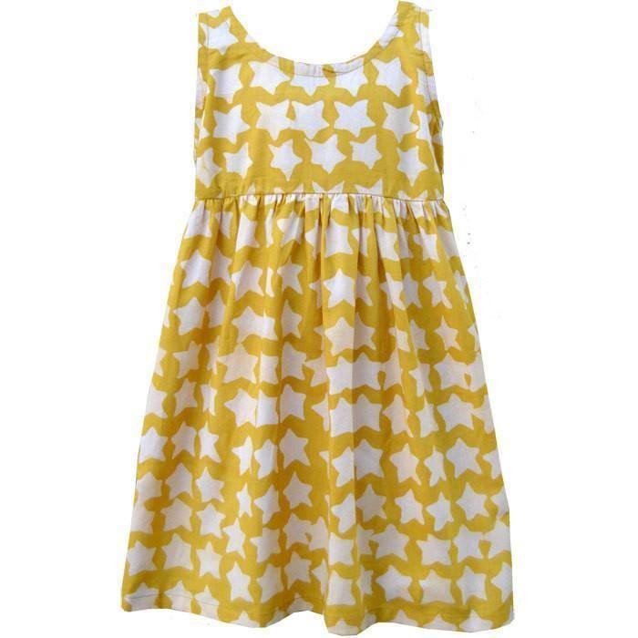 Girls Sundress - Gold Stars - Global Mamas (C)