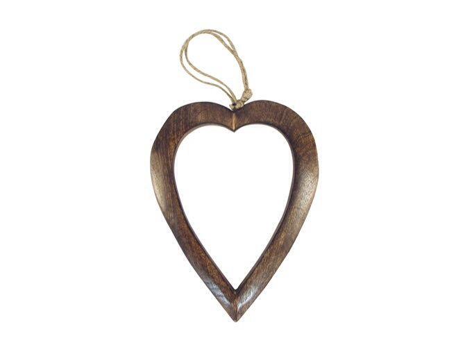Large wood open heart