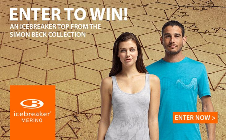 Enter Now: http://www.outsidesports.co.nz/win-icebreaker-competition.htm to be in with a chance to WIN one of two Icebreaker Tops from the Simon Beck Collection. The competition starts on November 4th, 2014. Entries close on November 30th, 2014. Enter below or on the Outside Sports Facebook page to be in with a chance to win an Icebreaker top from the Simon Beck Collection. By entering this competition you are agreeing to the competition terms and conditions.
