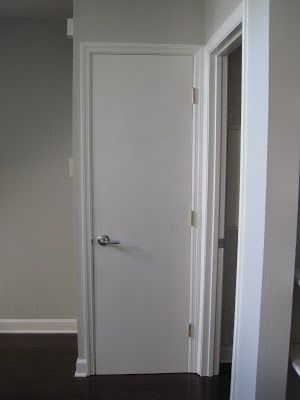 painted hollow core doors white | Here is what my doors looked like before...plain white with white trim ...