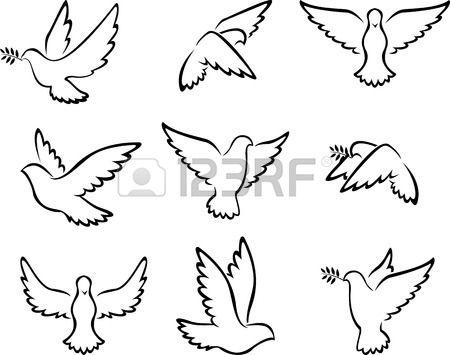 collection d'oiseaux de Dove pour le concept de la paix et de la conception de mariage. Banque d'images - 41506564