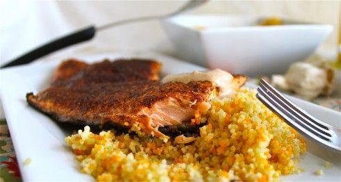 Moroccan Spiced Salmon with Sriracha Yogurt Sauce - The Food Charlatan