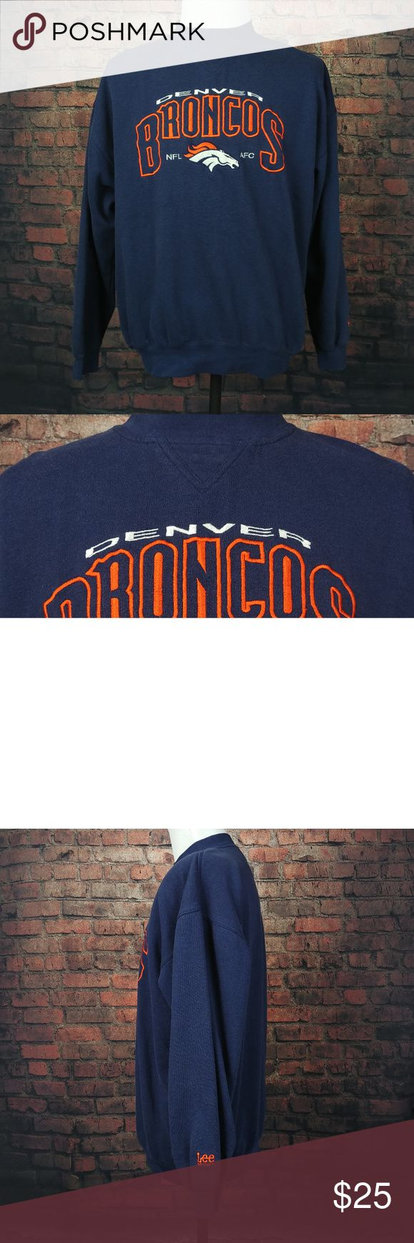 "VINTAGE Lee Sport Denver Broncos Sweatshirt Mens VINTAGE Lee Sport Denver Broncos Sweatshirt Mens Extra Large Pullover Crewneck  Very Good Condition! (See Photos).  Item Dimensions (Approximately):      26"" - Pit to Pit     28.5"" - Item Length (Front Side Neckline to Bottom)  Questions? Please ask, I try to respond immediately!   I ship daily to get you your item ASAP!   Just a common guy bringing you great deals, superb customer service is my goal.  -Cooper @ CoopsThrifts Lee Sport Sweaters…"