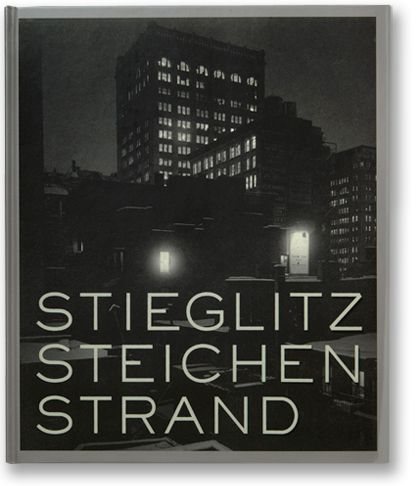 Catalog for an exhibition featuring the work of three prominent photographers Alfred Stieglitz, Edward Steichen, and Paul Strand.