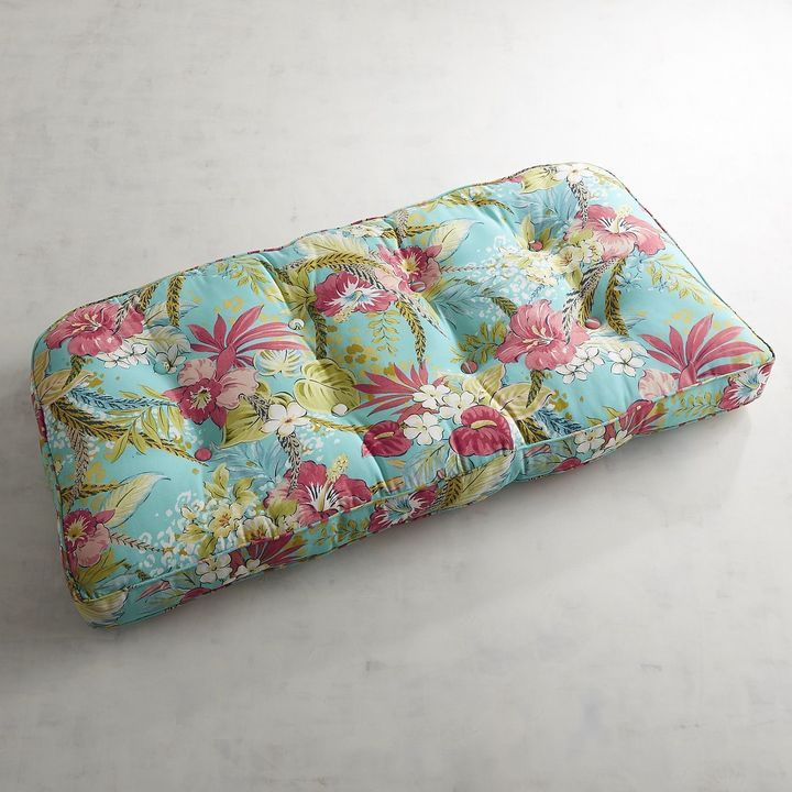Pier 1 Imports Large Contour Settee Cushion in Isla Tropical