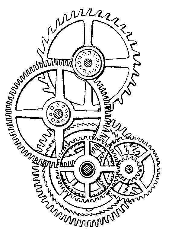steampunk gear drawings - Google Search | * Gears, Clocks ...