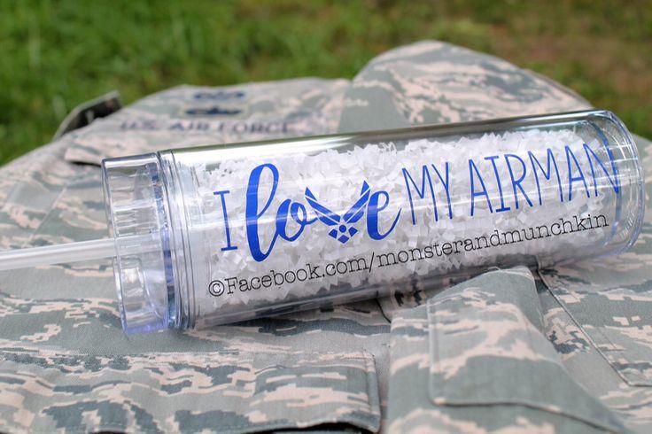 I Love My Airman, Tumbler, Air Force Wife, Military Wife, Military Spouse, Air Force, USAF, Military Girlfriend, Air Force Girlfriend by MonsterAndMunchkin on Etsy https://www.etsy.com/listing/448797866/i-love-my-airman-tumbler-air-force-wife