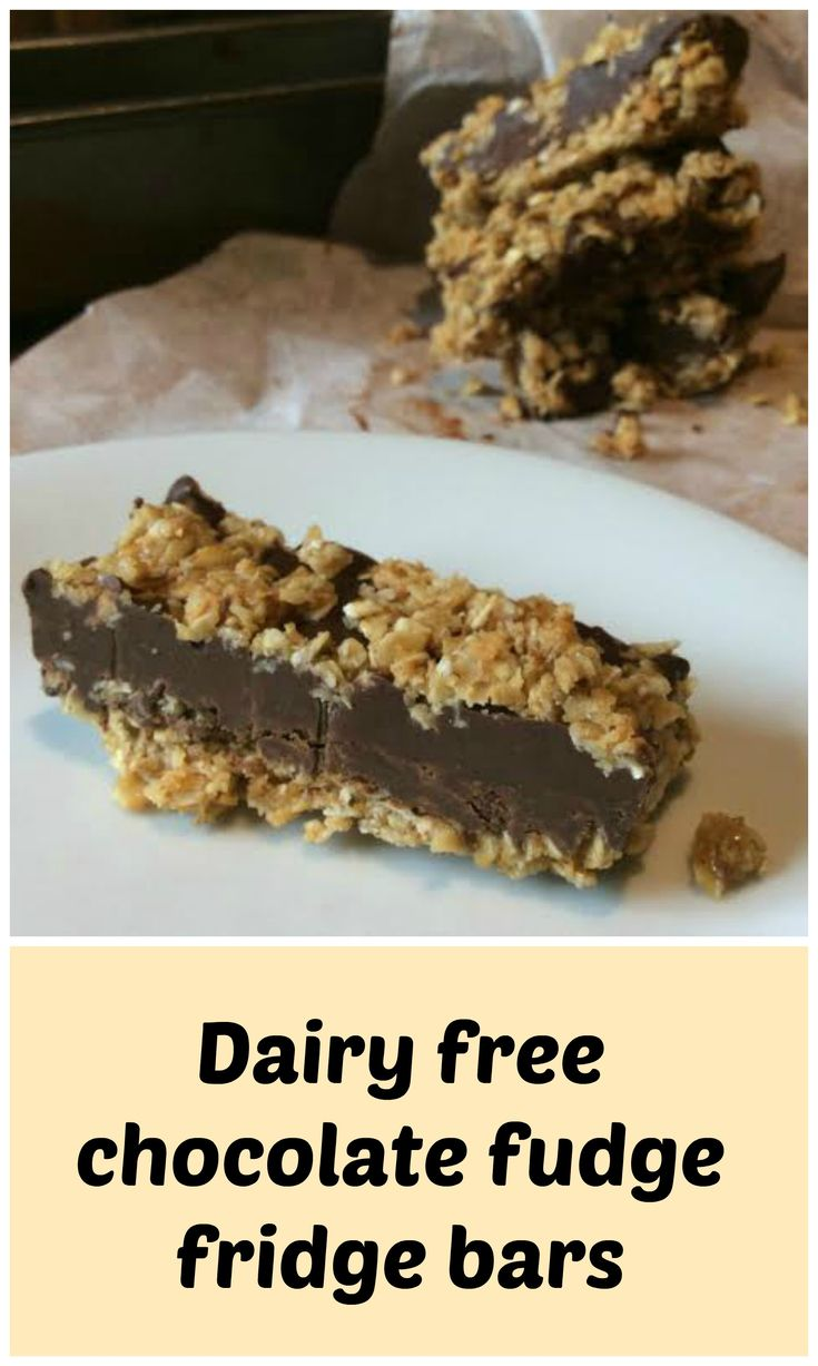 Dairy free chocolate fudge bars - delicious! These no-bake bars a easy, delicious and all egg free and easily gluten free. www.freefromfarmhouse.co.uk