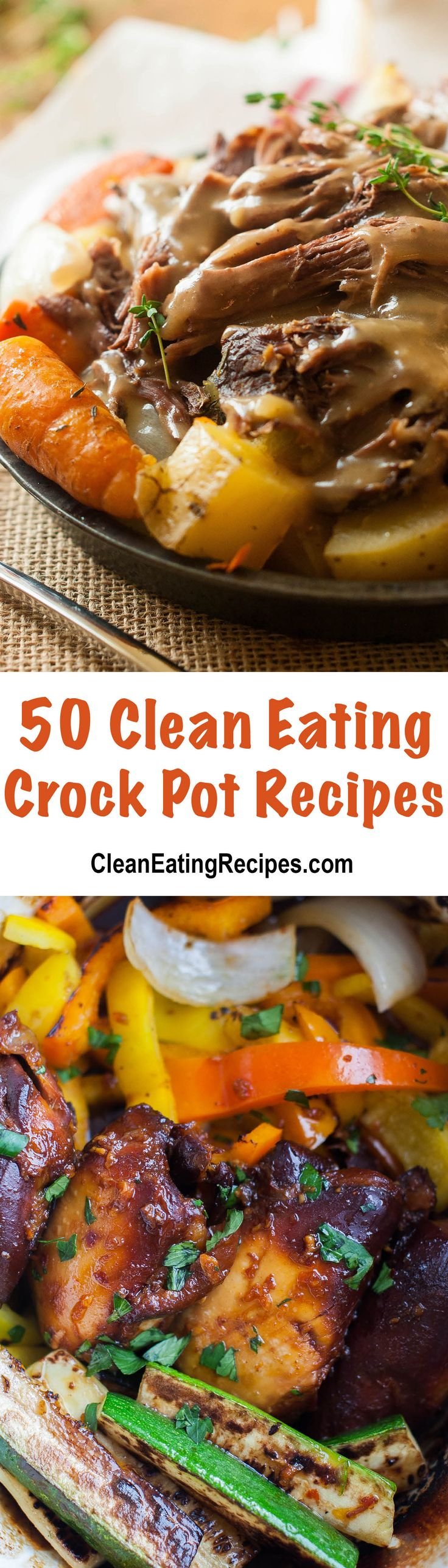 I love almost all these Clean Eating crock pot recipes! I'm definitely keeping…
