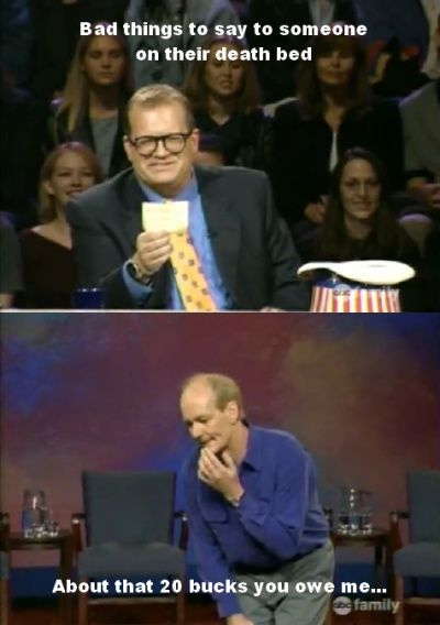 I wish I was growing up while Whose Line used to air new episodes.