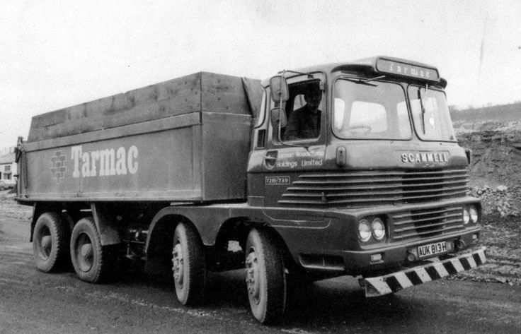 1970 Scammell Routeman eight wheel tipper in Tarmac Livery