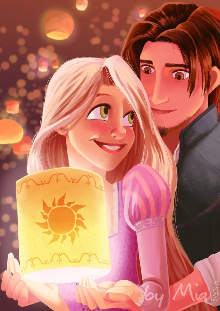 Princess Rapunzel From Tangled Fan Art And Flynn