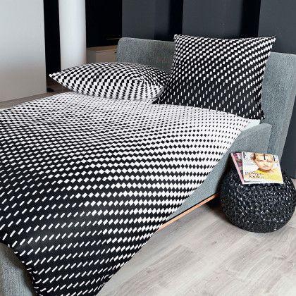 #beds #bedlinen Janine Mako-Satin Bettwäsche J.D. 87016-08 schwarz 155x220 cm + 80x80 cm: Janine Mako-Satin Bettwäsche… #mattresses #pillows