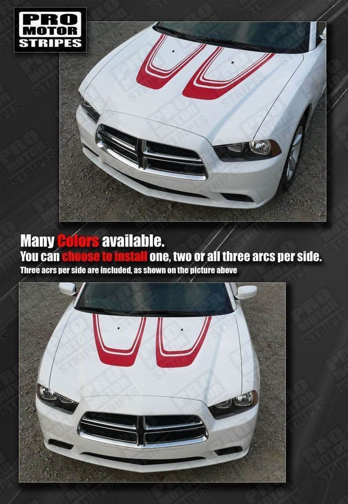 Dodge Charger 2011-2014 Hood Scallop Accent Stripes