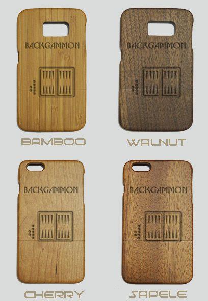 Backgammon Engraved Wood Phone Case