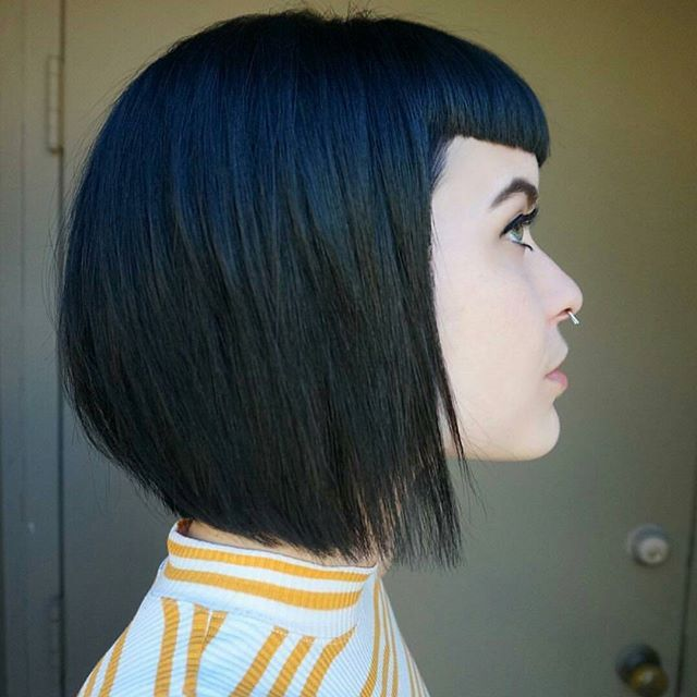 Bella- micro bang, asymmetric, blue extensions