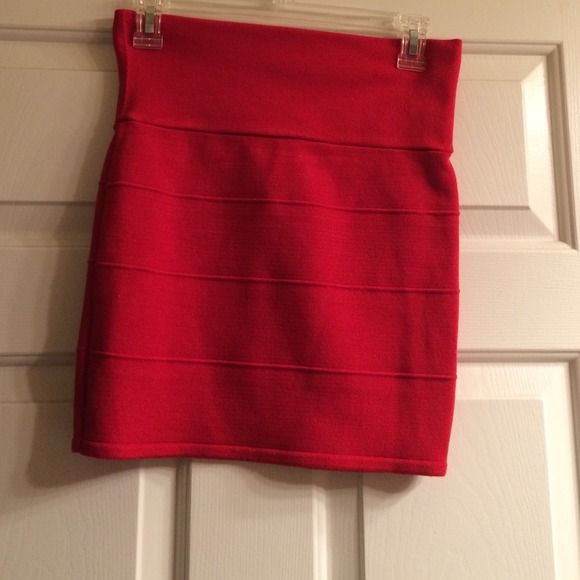 Red bandage mini skirt Cute for going out! Skirts Mini