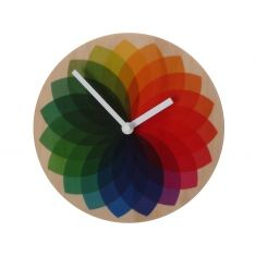 Objectify rainbow fan clock