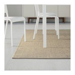 """IKEA - OSTED, Rug, flatwoven, 4 ' 4 """"x6 ' 5 """", , The rug is hard-wearing and durable because it's made of sisal, a natural fiber taken from the agave plant.Polyester edging makes the rug very durable and strong.Looks the same on both sides, so you can turn it over and it will withstand more wear and last longer."""
