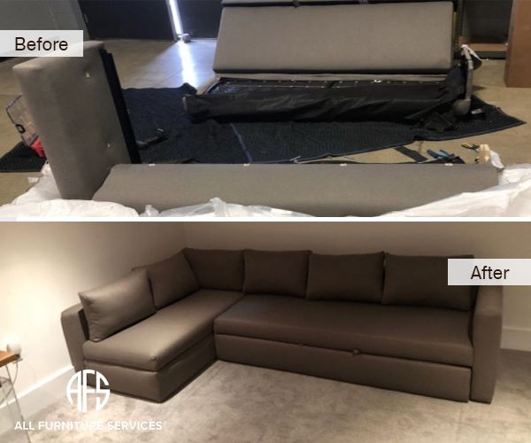 Sectional Sleeper Re Upholstery Disassembly To Fit Sofabed Take