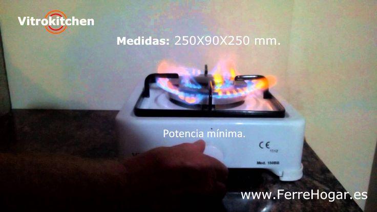 Hornillo Gas 1 Fuego Triple Quemador 3,6KW 150BB Vitrokitchen Uso exterior