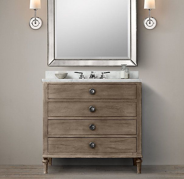 Maison single vanity sink bathroom 910 600 860 for Restoration hardware bathroom cabinets