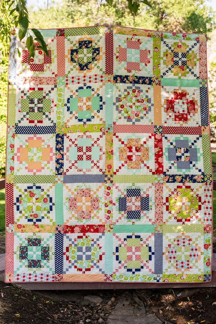 "Burgoyne quilt by Sew in Love Quilting. ""Tone It Down"" pattern designed by Lissa Alexander for American Patchwork & Quilting."