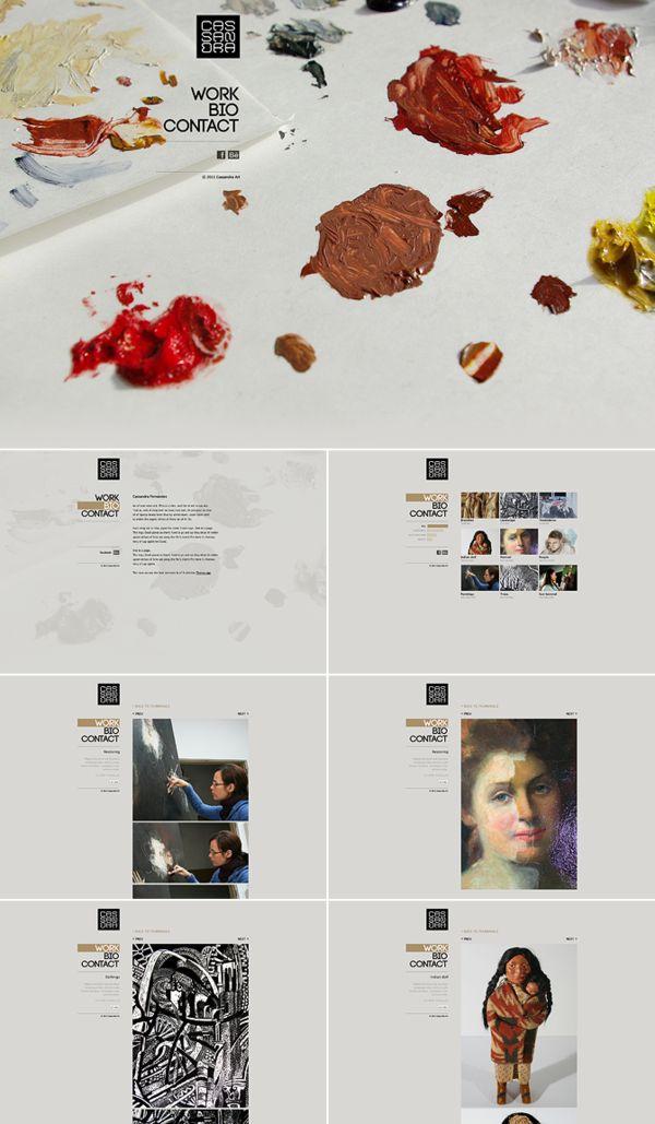 #Web Design by FA Design, via Behance