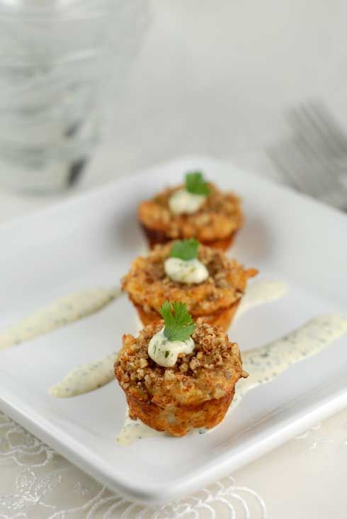 #glutenfree mini crab cakes with lime and cilantro aioli - i've made this several times and it's always a hit
