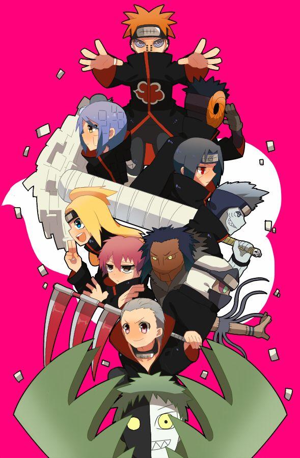 Friendship Bond  Animee Manga Cosplay  Chibi Akatsuki  Akatsuki ChibiAkatsuki Chibi Tobi