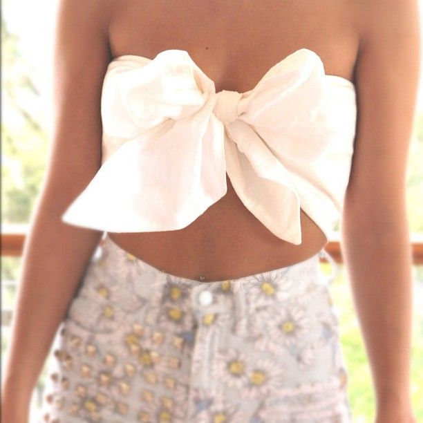 love this bow bandeau