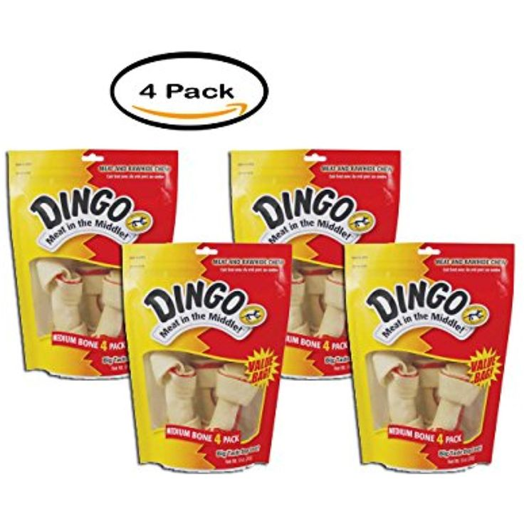 PACK OF 4 - United Pet Group Dingo Dog Treats, 4-PCS ~ You can click image to review more details. (This is an affiliate link and I receive a commission for the sales)